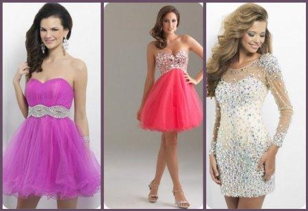 короткие платья на выпускной 2014