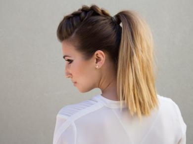 Причёска - хвост. Как сделать из обычного хвоста стильную причёску