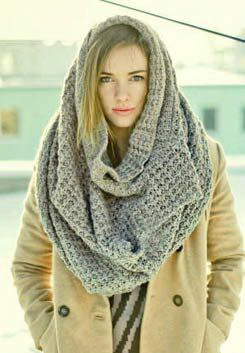 Новый ТОП-5 модных шарфов: как и с чем носить: шарф-снуд, шарф-труба MF12