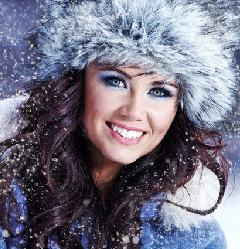 Макияж зима 2015